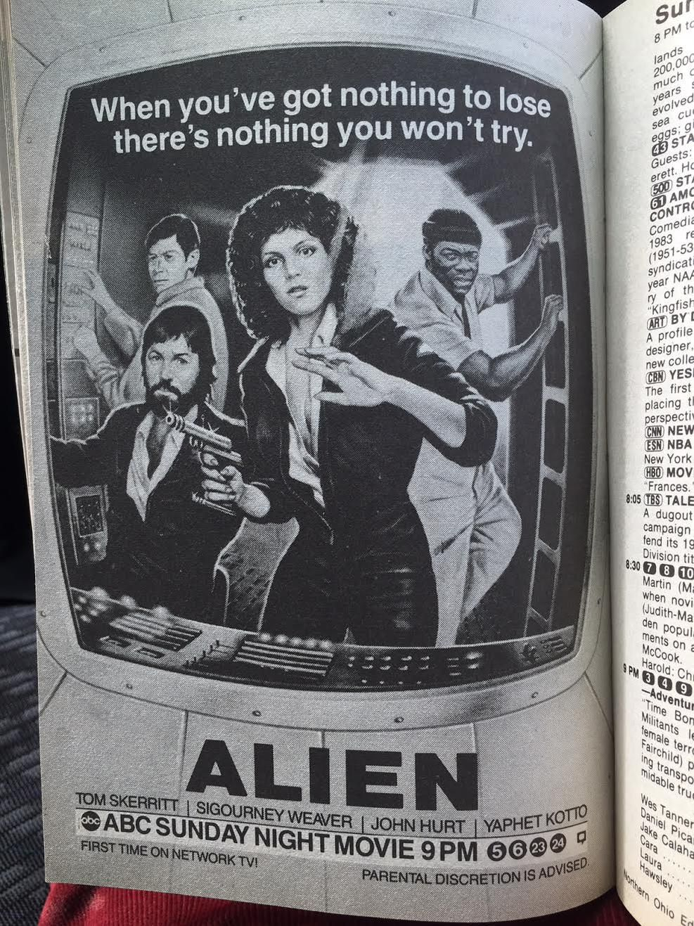 "ABC absolutely on point with their ""Alien"" advert Tv"
