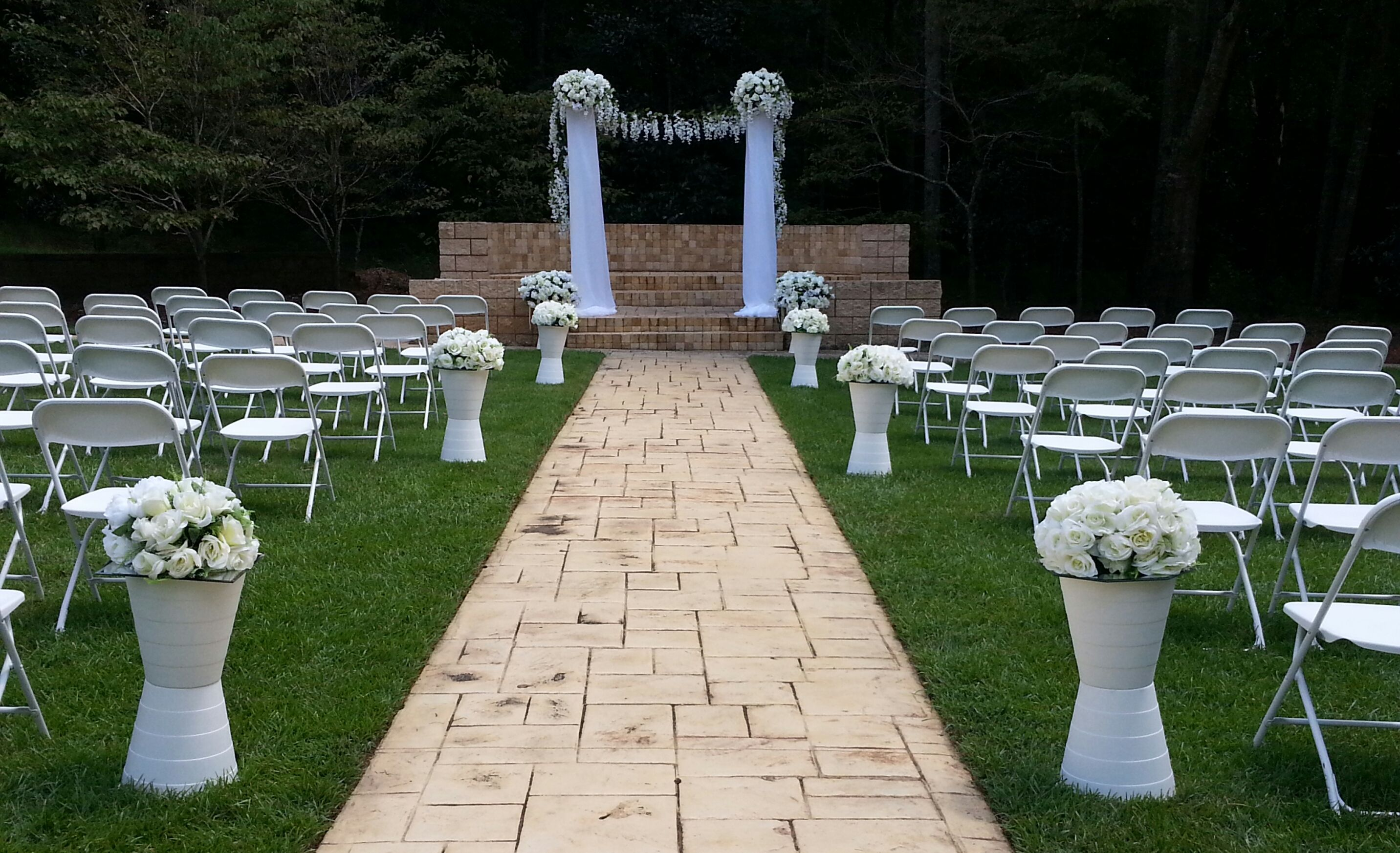 Simple outdoor wedding ceremony. #DothanBotanical # ...