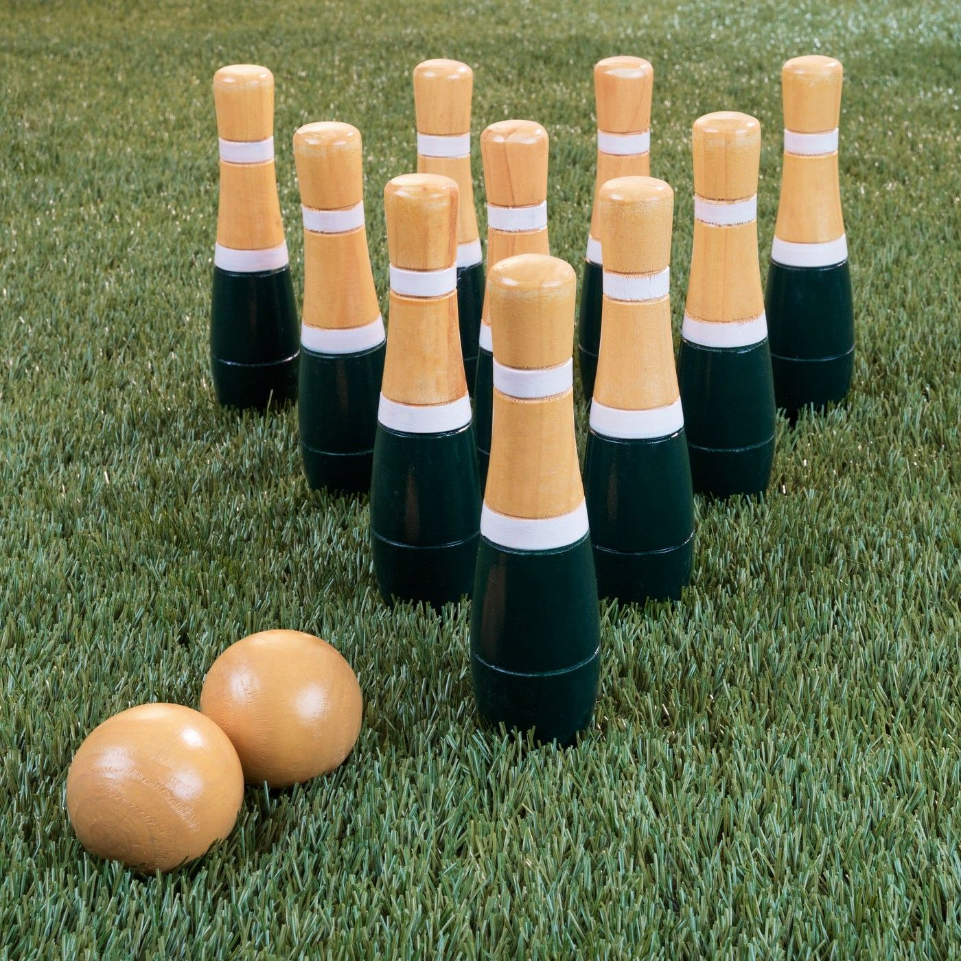Hey play lawn bowlingskittle ball game set image 5 of