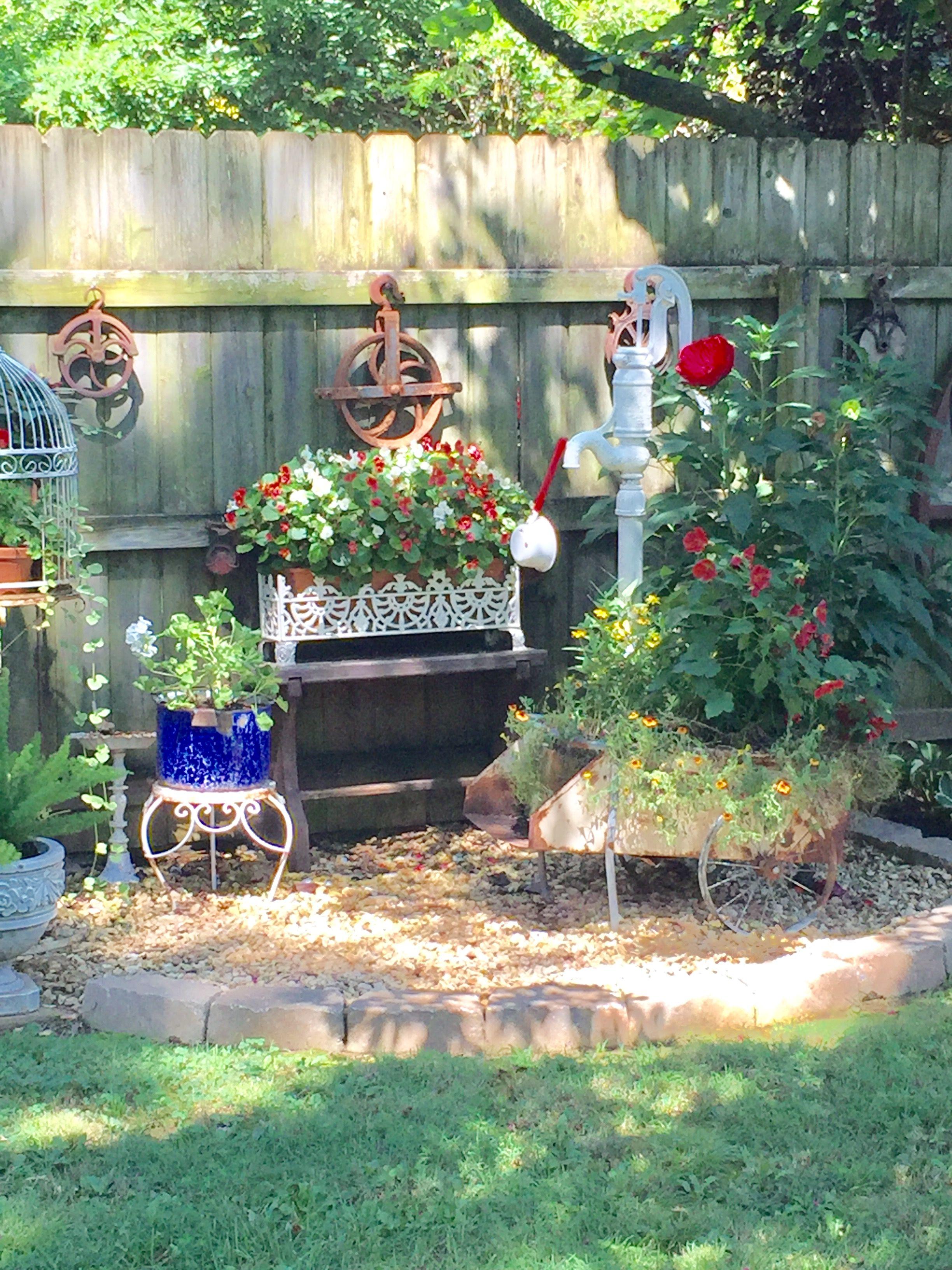 Backyard ideas  Rustic garden decor, Fun garden art, Rustic gardens