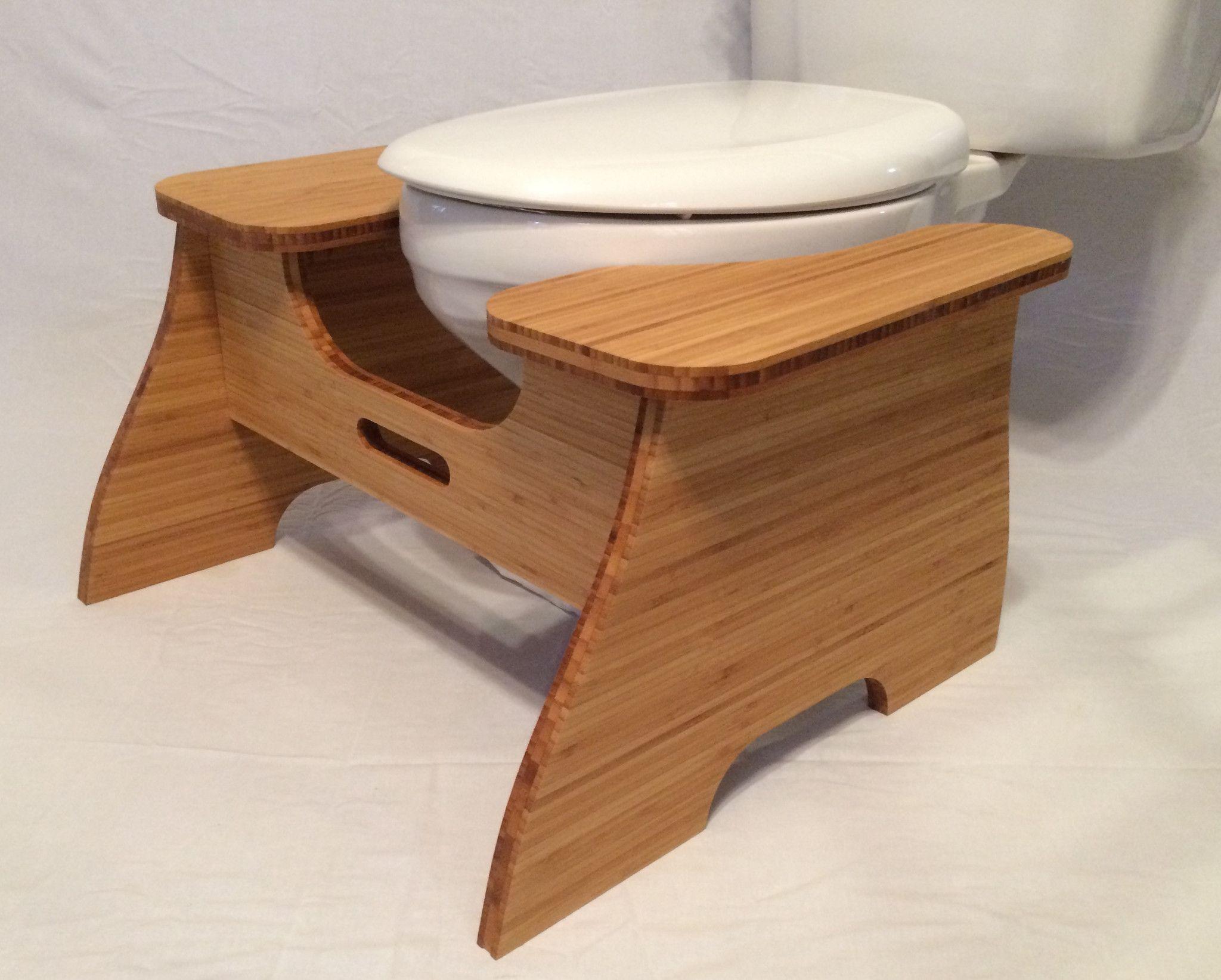 High Bamboo Poop Stoop Full Squat Toilet Foot Stool O