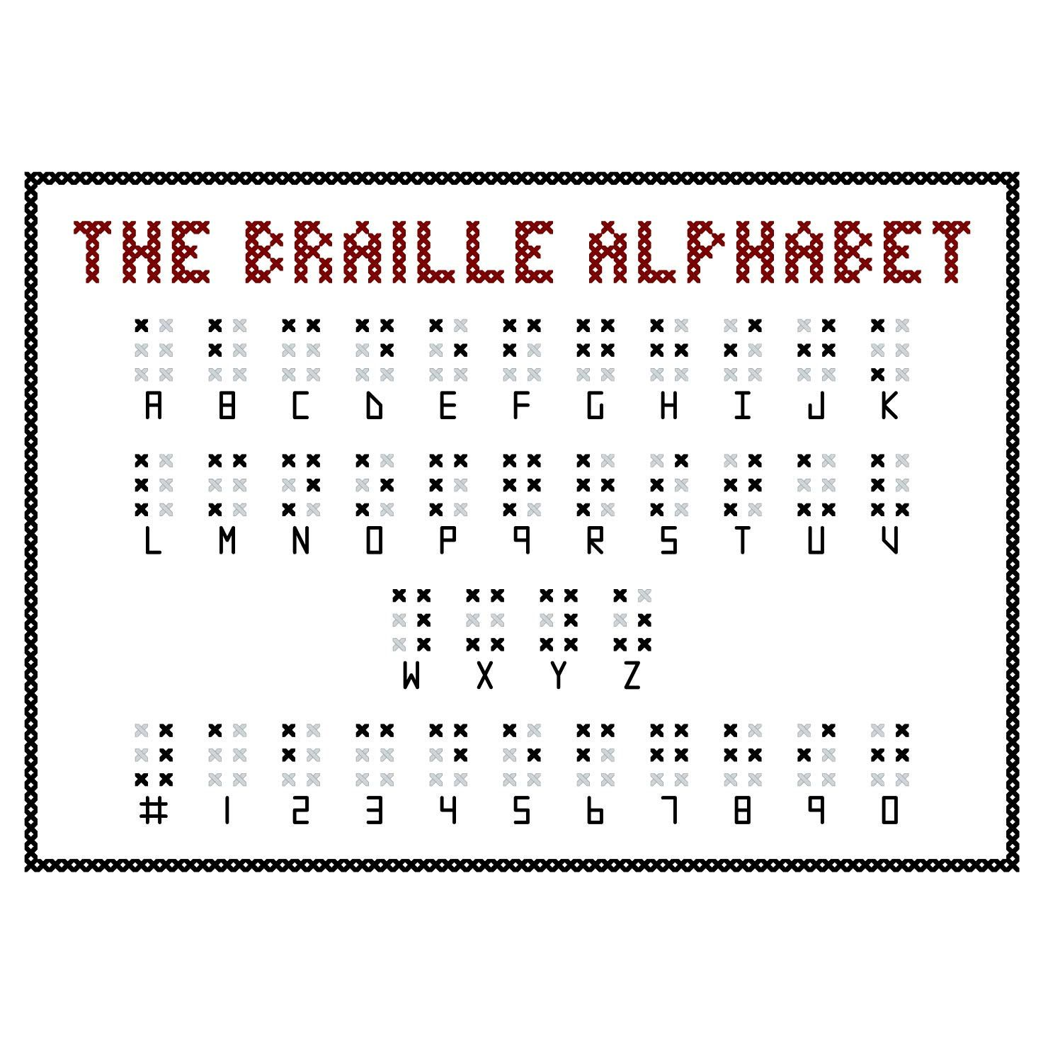 Braille Alphabet For Kids Matttroy