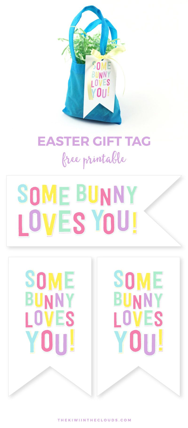 How to set a fun christ centered easter for kids free somebunny loves you free printable easter tag come grab this cute easter gift tag and negle Gallery