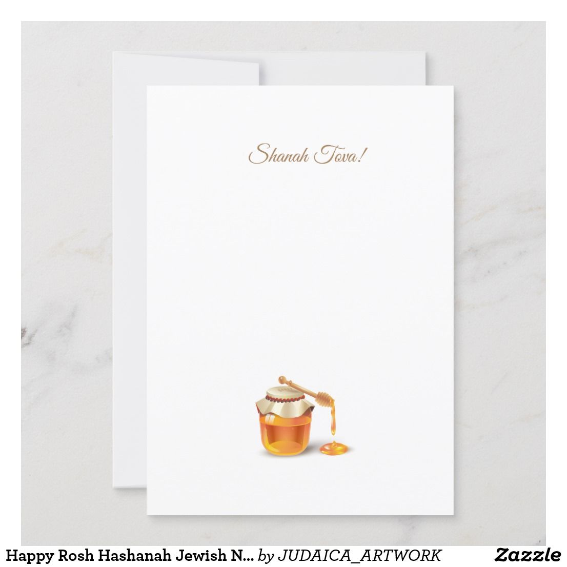 Happy Rosh Hashanah Jewish New Year Greeting Card | Zazzle.com #roshhashanah