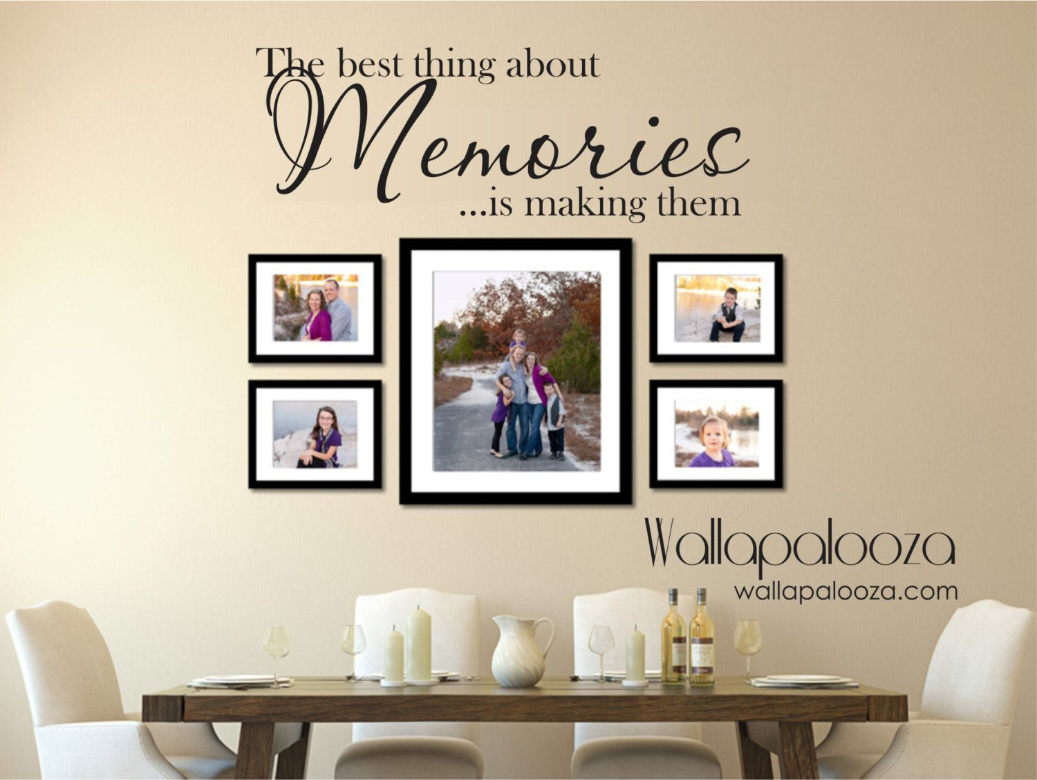 Family wall decal memories wall decal family decal - Wall sticker ideas for living room ...