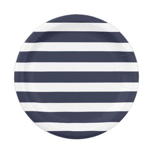Navy Blue and White Stripes