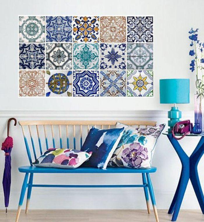 le carrelage mural en 50 variantes pour vos murs cuisine carrelage carrelage mural et. Black Bedroom Furniture Sets. Home Design Ideas