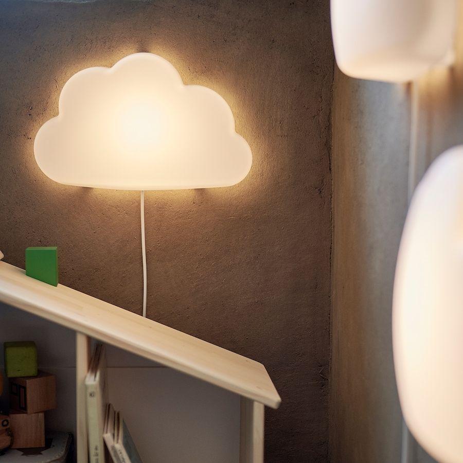 IKEA DRÖMSYN Kinderlampe Wandleuchte Kinderzimmer Wandlampe Lampe Wolke NEU