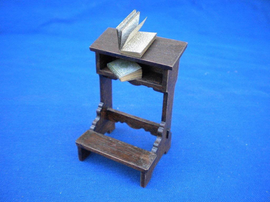 Dolls #house tudor prie dieu #1:12th medieval #gothic church prayer furniture ,  View more on the LINK: http://www.zeppy.io/product/gb/2/351827620261/