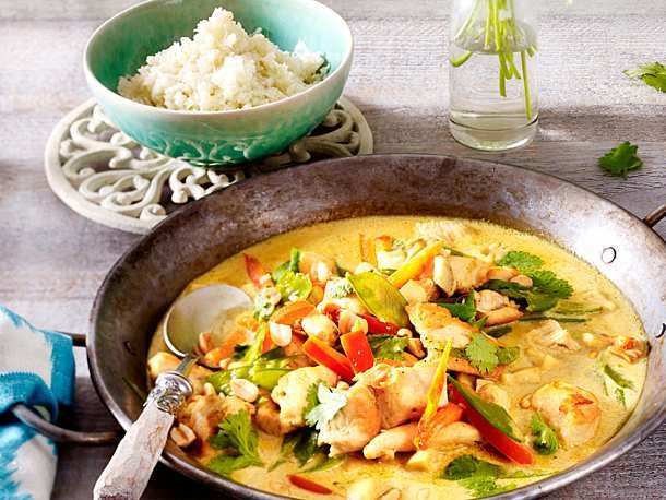 Photo of Chicken Coconut Curry with Cauliflower Rice Recipe DELICIOUS