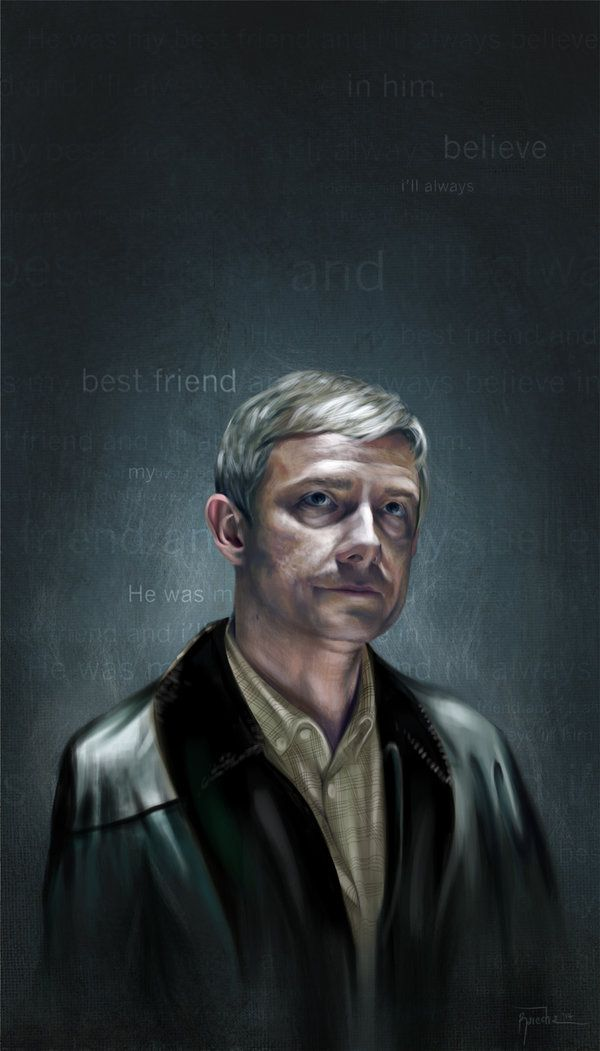 John Watson, Digital Painting. PSCS5. #Sherlock #Watson #MartinFreeman #Fanart #Raiecha