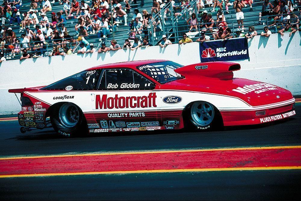 Bob Glidden Motorcraft Ford Probe High Resolution Full Color Premium Drag Racing Poster Bob Glidden Drag Racing Drag Racing Cars