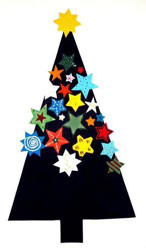 Weihnachtenbasteln Weihnachten Baum Sterne 2 Schulbastelideen