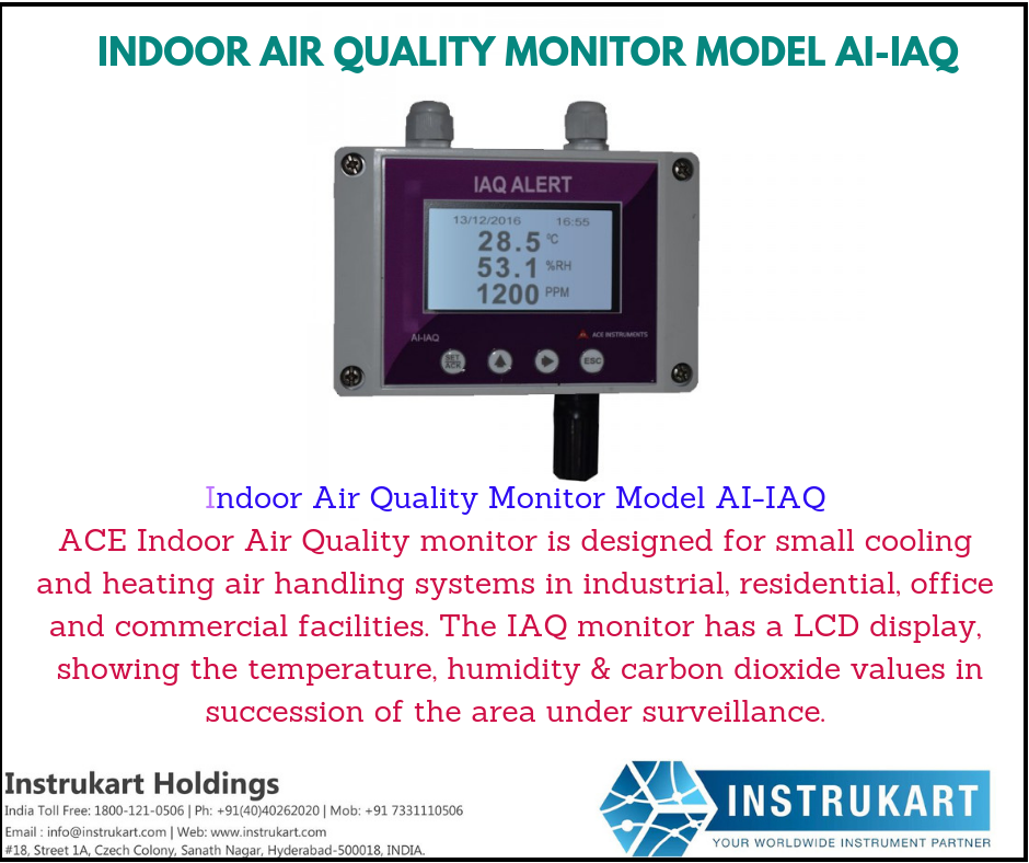 Ace Indoor Air Quality Monitor Iaq Detector Instrukart Air