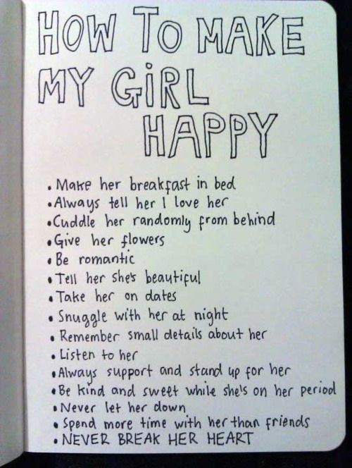 How do you make a girl happy