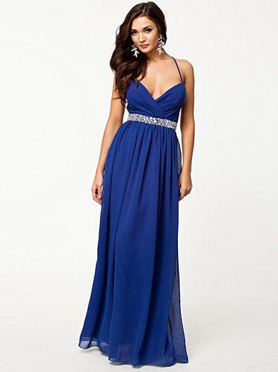 Gala En Feestjurken.Embellishment Maxi Dress Nly Eve Blauw Feestjurken Kleding