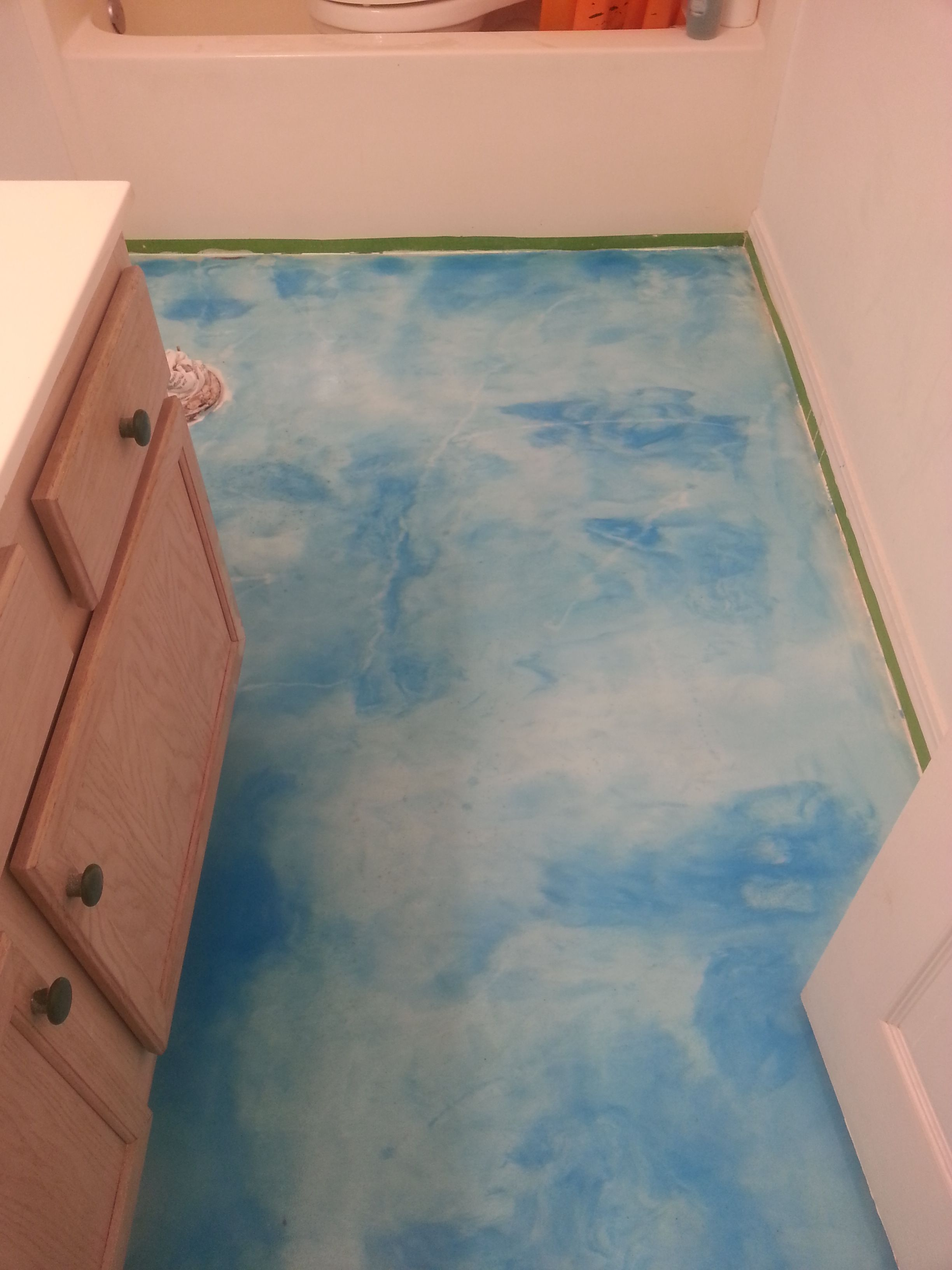 Park Art|My WordPress Blog_Light Blue Epoxy Floor Paint