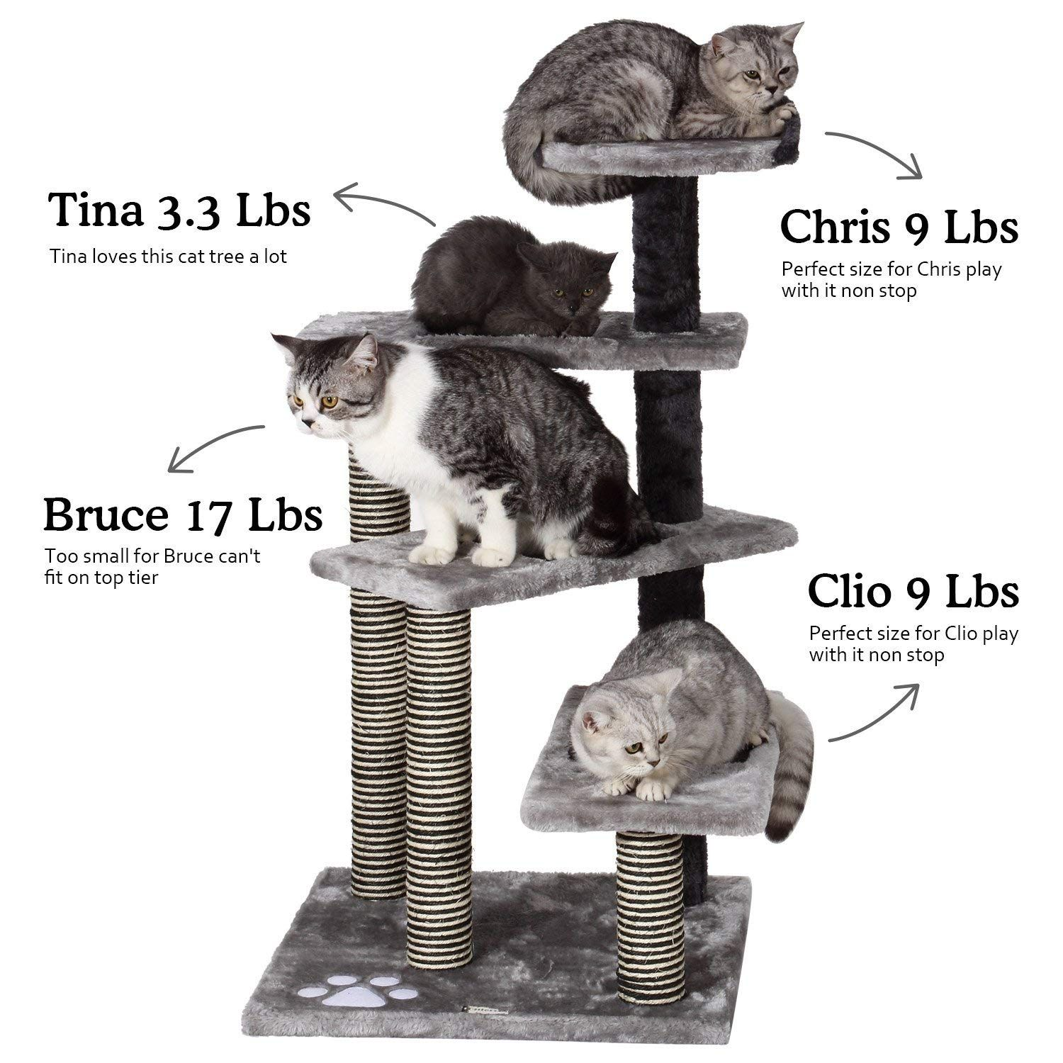 Ollieroo Cat Tree Scratcher Post Furniture Kitten Activity Tower Solid Condo Play House You Can Find Out More Cat Tree Condo Cats And Kittens Cat Playground