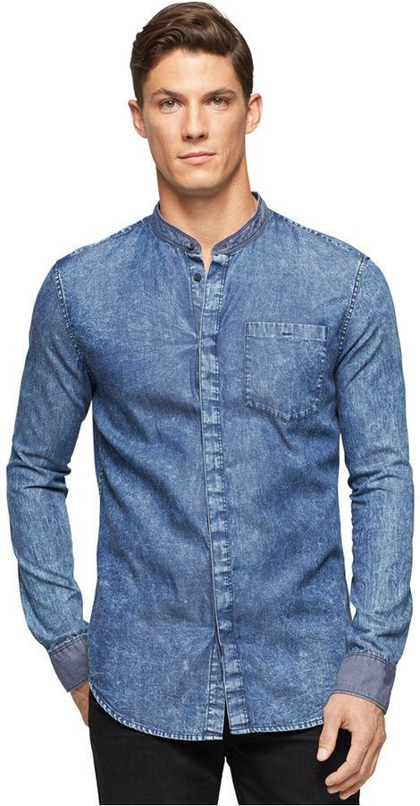 e9c56281b8 Image result for men s band collar shirt outfit