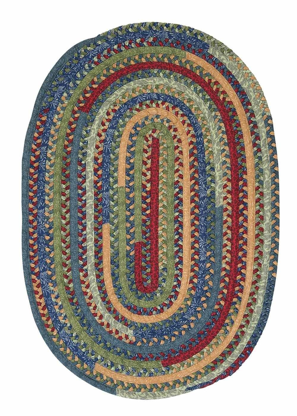 Market Mix Oval Mm03 Sea Gl Braided Rug By Colonial Mills