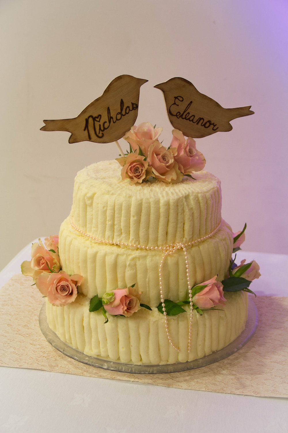 Cake Topper Mr And Mrs Rustic Personalized Tree | Cake Ideas ...