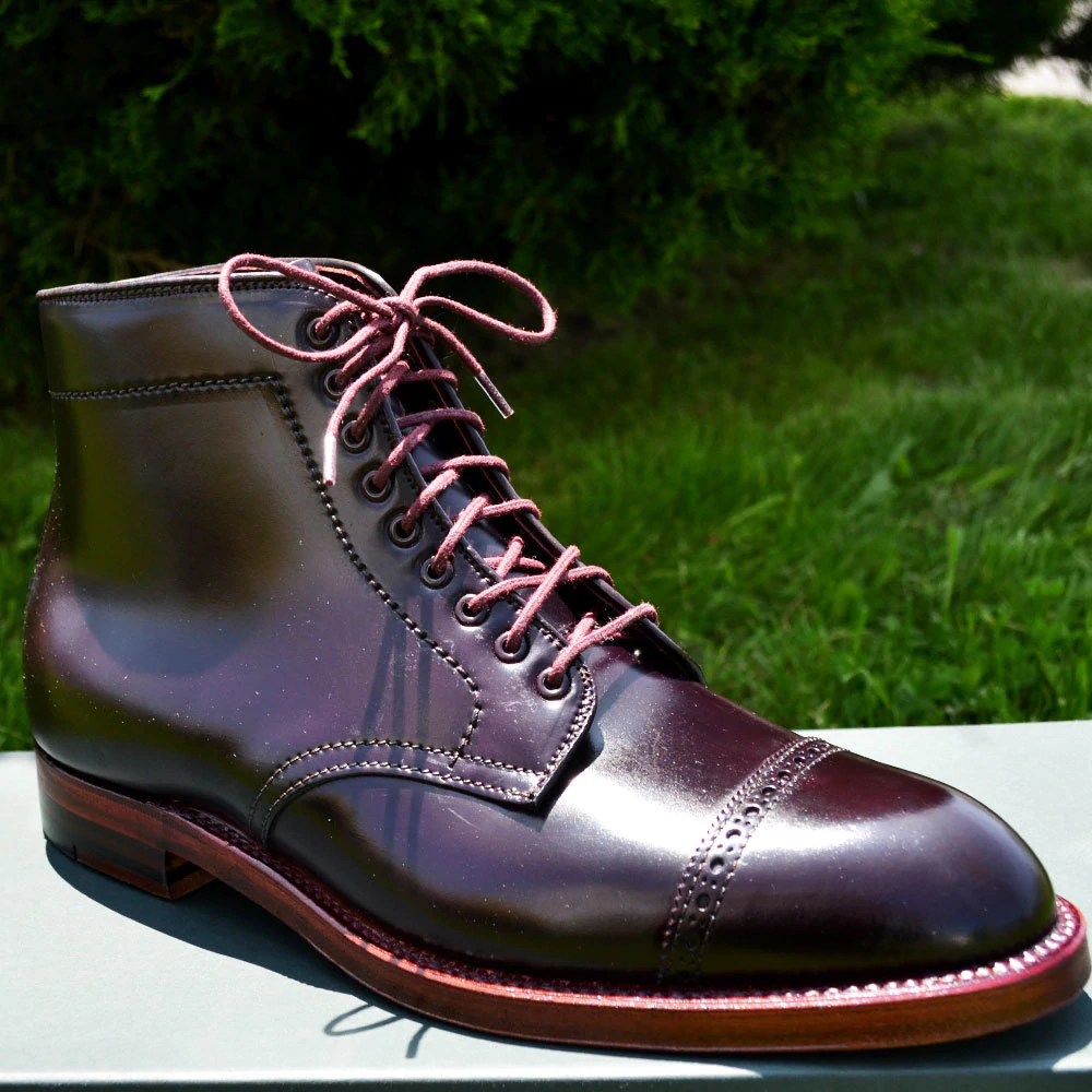 Round Cord Waxed Boot Laces 54 Burgundy Lace Boots Boots Alden Shoes