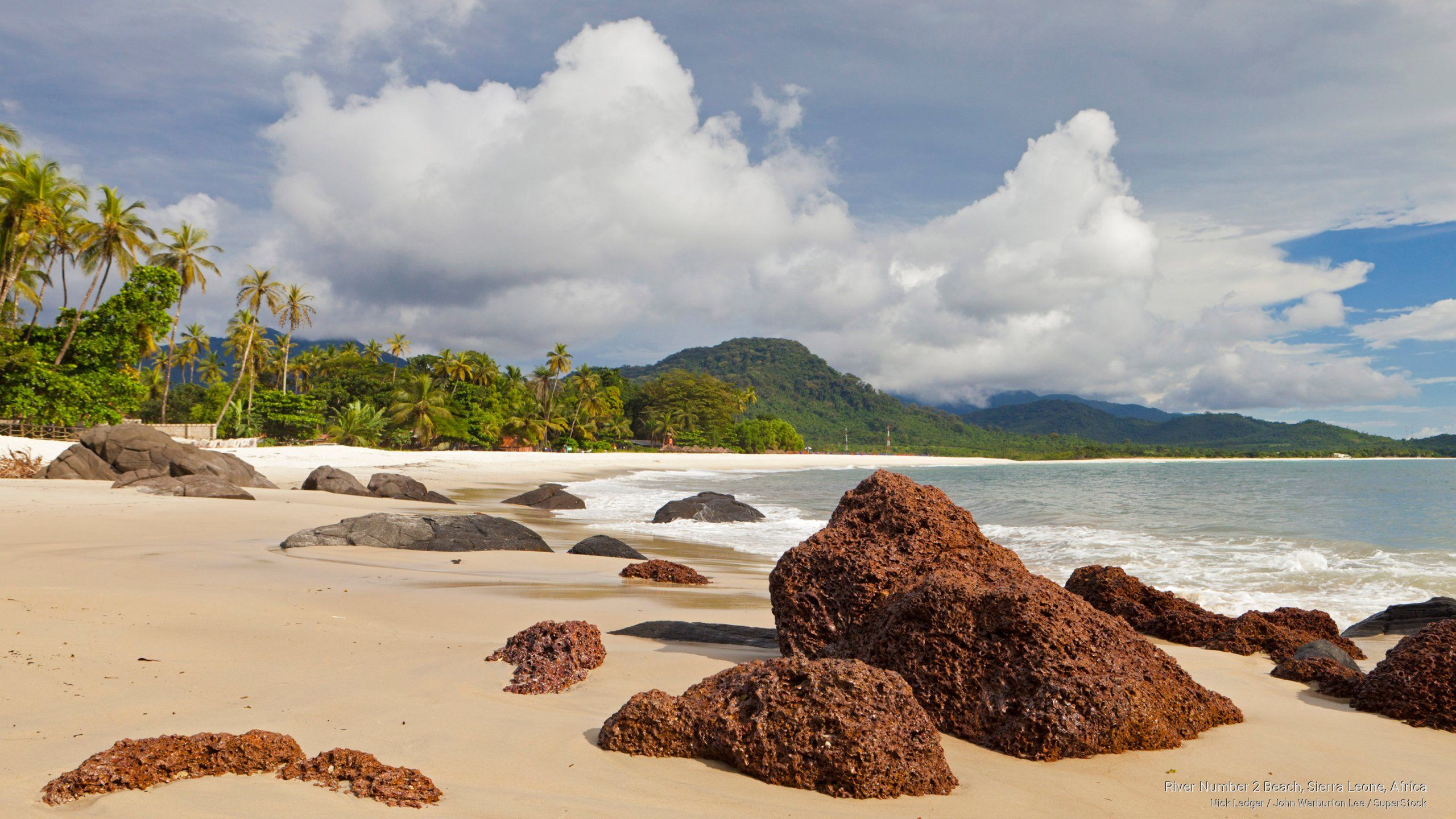 river #2 beach sierra leone | Free Africa Wallpaper - River Number 2 Beach, Sierra Leone, Africa