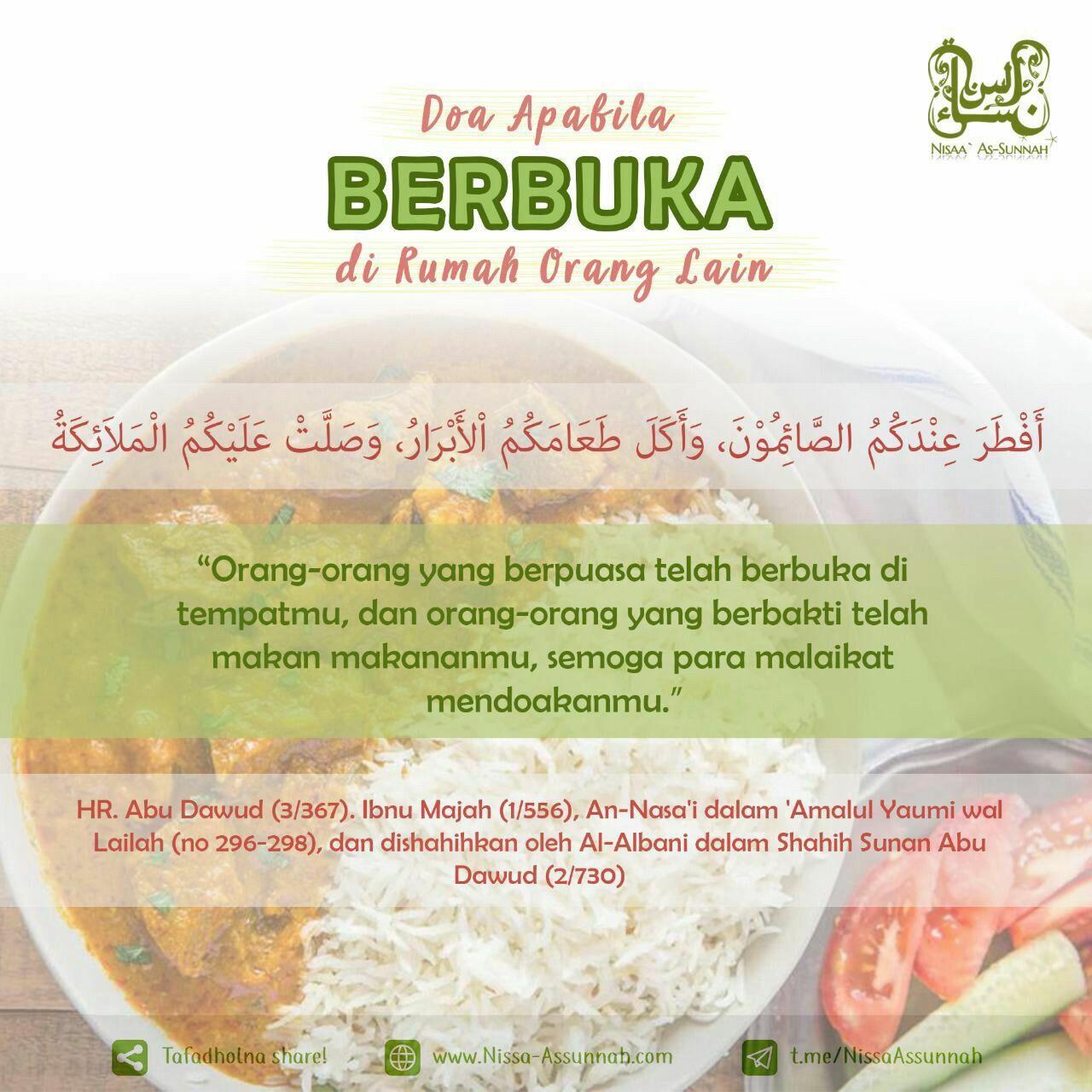 Pin Oleh Hasanah Al Atsariyyah Di Ramadhan Makanan Doa Orang