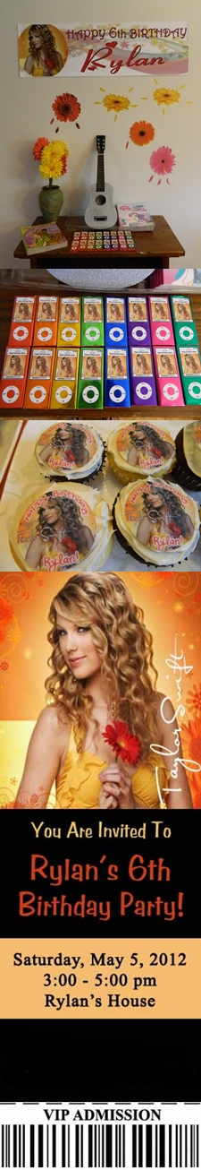 Rylan's 6th Birthday Party - Taylor Swift theme. :)