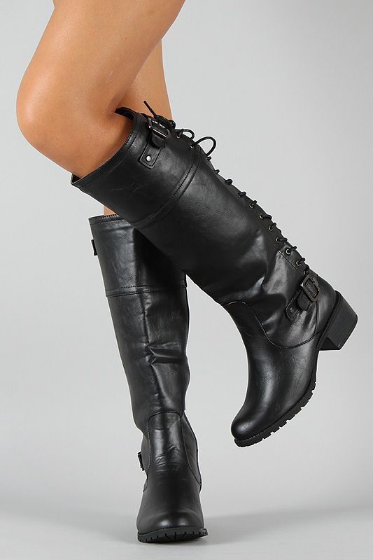 Bumper Teka-06X Back Lace Up Riding Knee High Boot