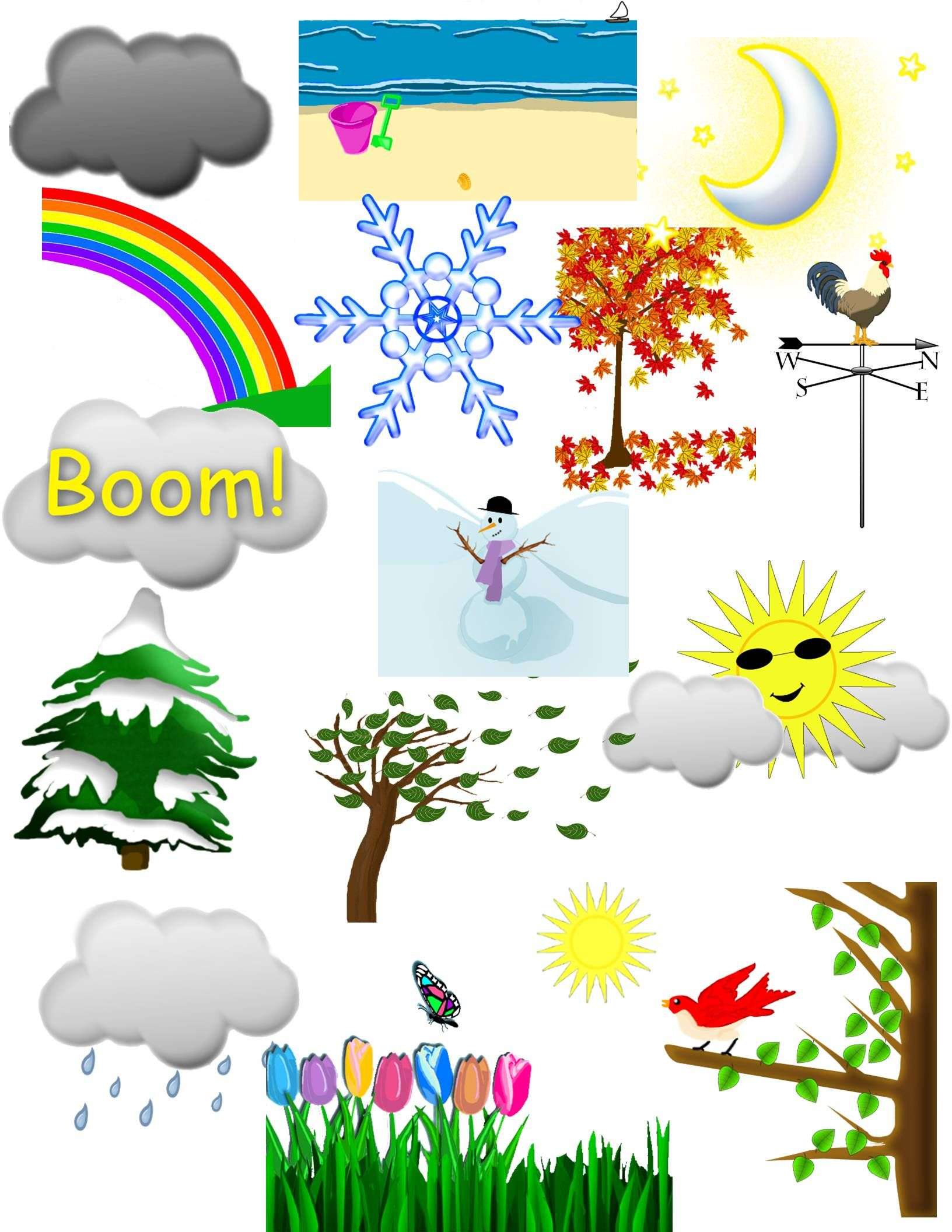 Weather and seasons clip art bulletin board and weather beautiful weather and seasons clipart by suzibeedesigns for science centers tpt creations posters buycottarizona Gallery