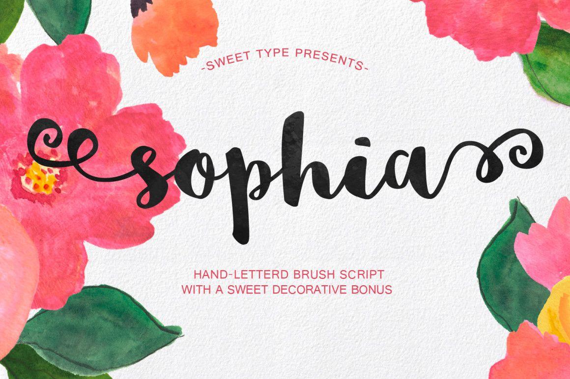 Sophia Free Handlettered Brush Script Font Best Free Script