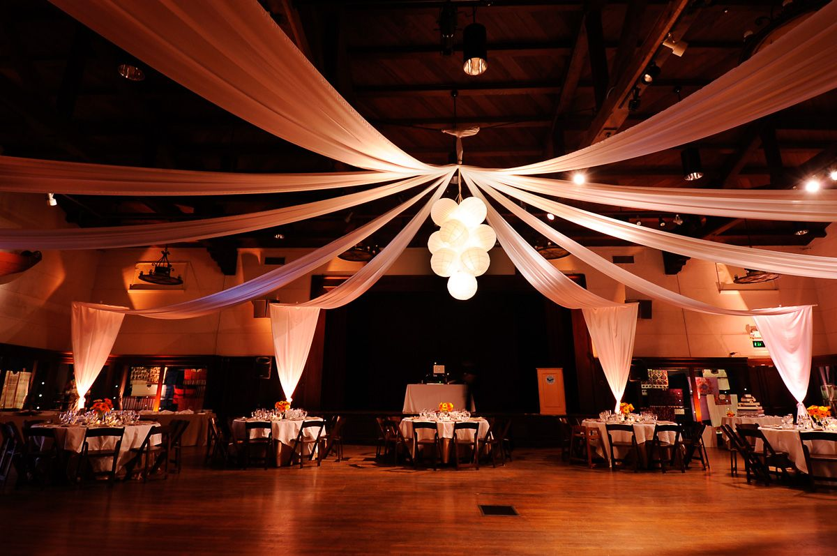 a cluster of paper lanterns hung over the dance floor