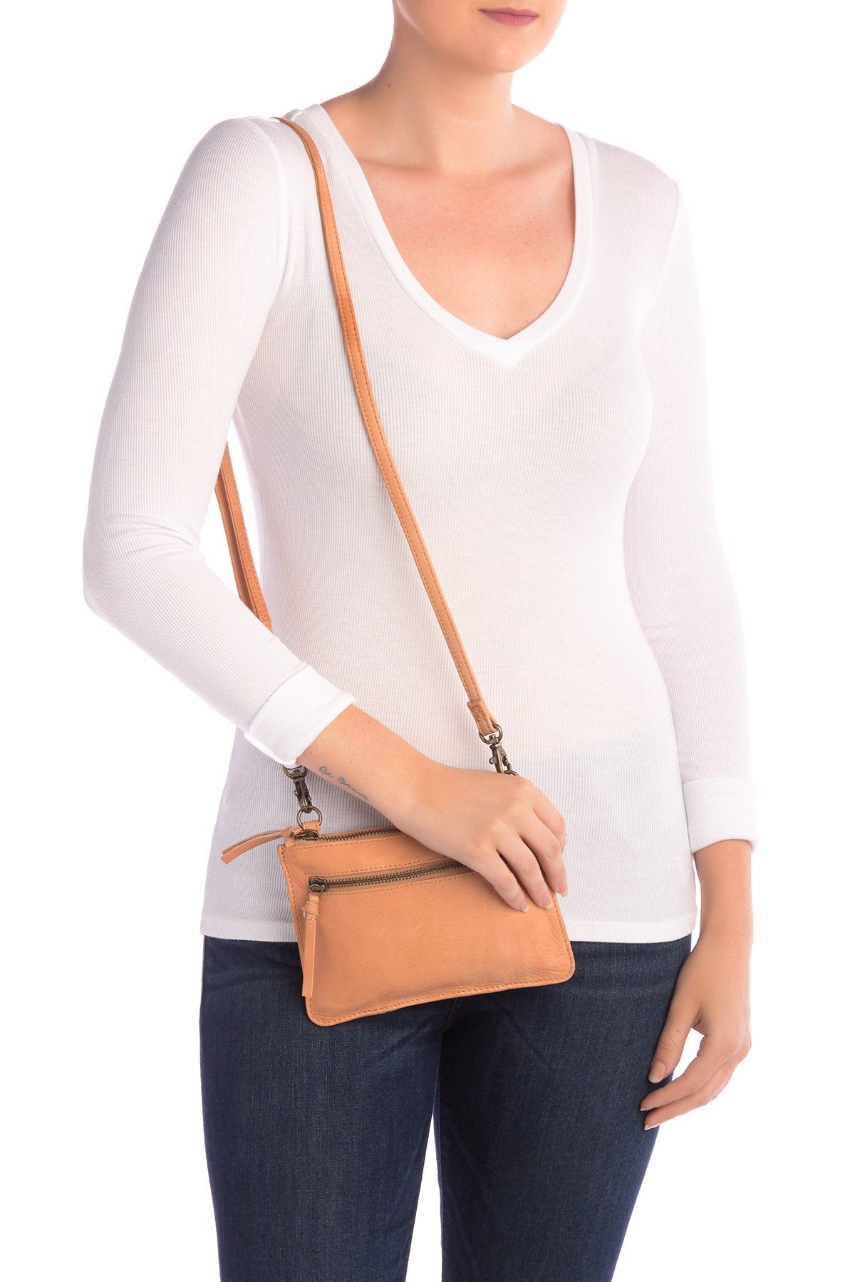 Day & Mood | Lily Leather Crossbody Bag #nordstromrack