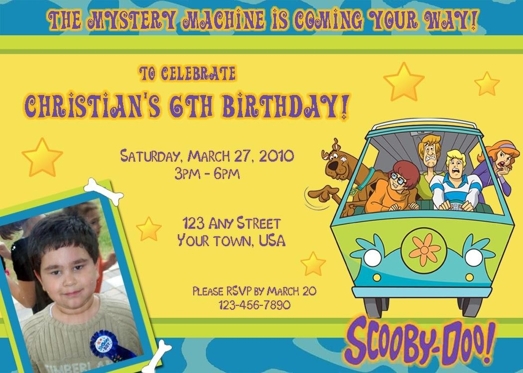 Scooby Doo Party Invites! | Let\'s all celebrate and have a good time ...