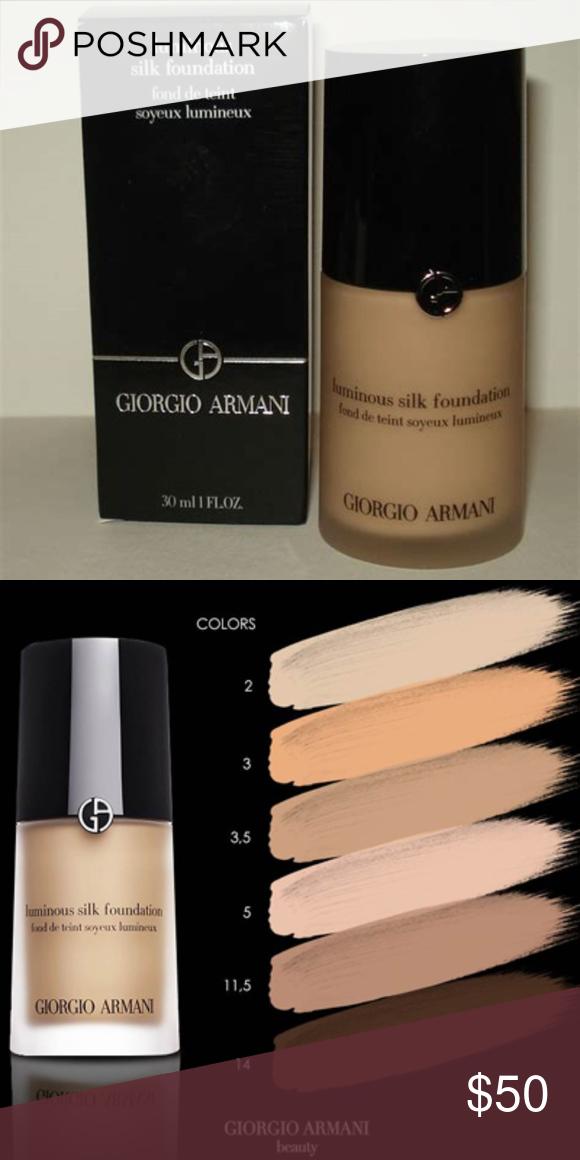 New Giorgio Armani Luminous Silk Foundation 3 5 New In Box Full
