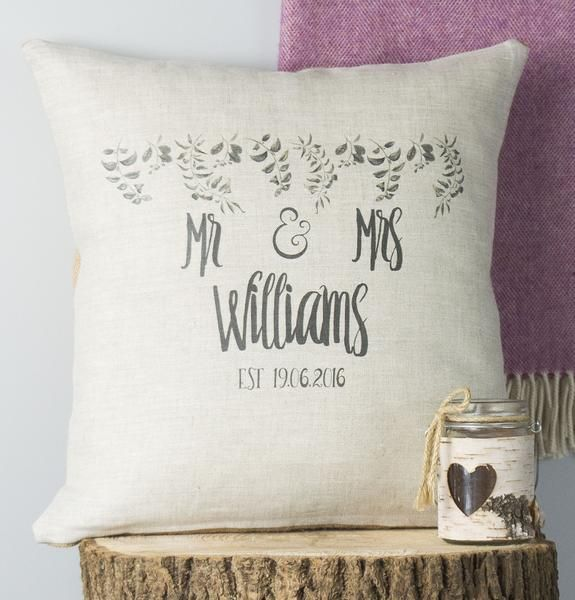 Personalised Foliage Special Date Cushion New Cushions Throws Magnificent Personalised Pillow Covers Online