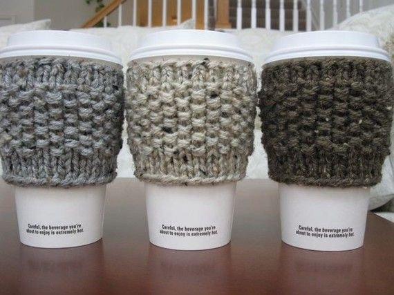 knitted coffee sleeves | All you Knit to Know | Pinterest | Stricken ...