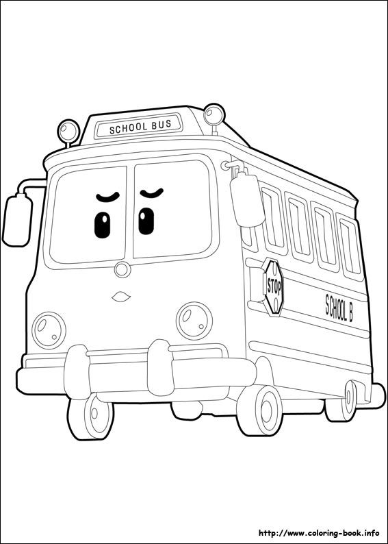 Robocar Poli Coloring Picture กระป กออมส น