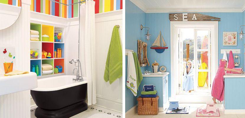 Ideas divertidas para cuartos de baño infantiles | Cuartos ...