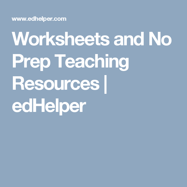 Worksheets and No Prep Teaching Resources | edHelper | 1st Grade ...
