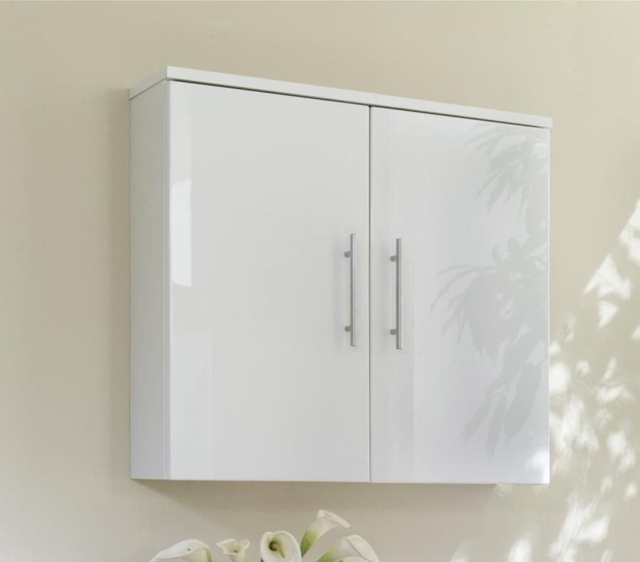 Gloss White Bathroom Wall Cabinet Wall Storage Cabinets