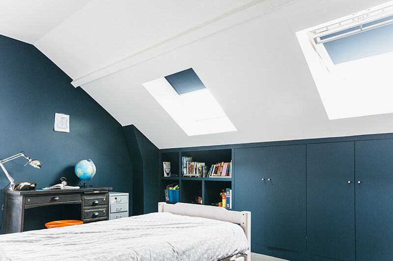 Nuances De Bleu Style Industriel Bedrooms Bedroom Attic Rooms