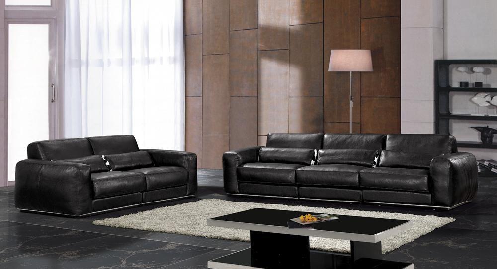 Genuine Leather Living Room Sofa Set