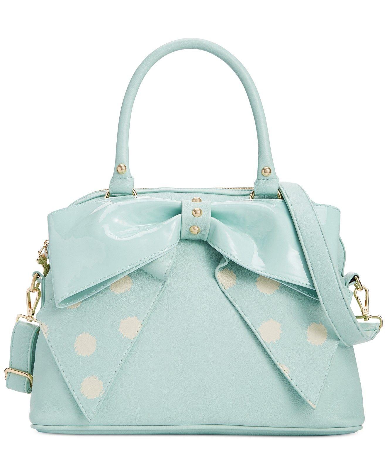 7e13f0c6 Betsey Johnson Macy's Exclusive Dome Satchel - Handbags ...
