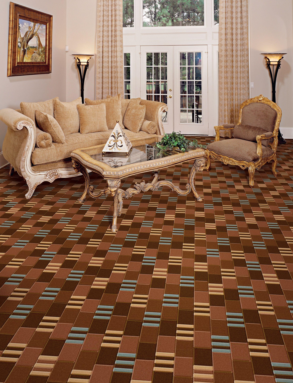 Multi color patterned living room carpet by kane carpet - Living room carpet ideas ...