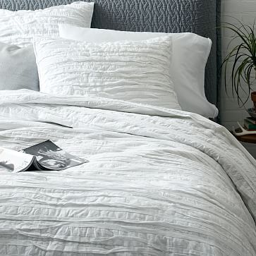 West Elm Frayed Edge Quilt Shams Twin Quilt 119 100 Cotton Voile Shell Stitched By Hand Natural Bedroom Modern Bedroom Bedroom Inspirations