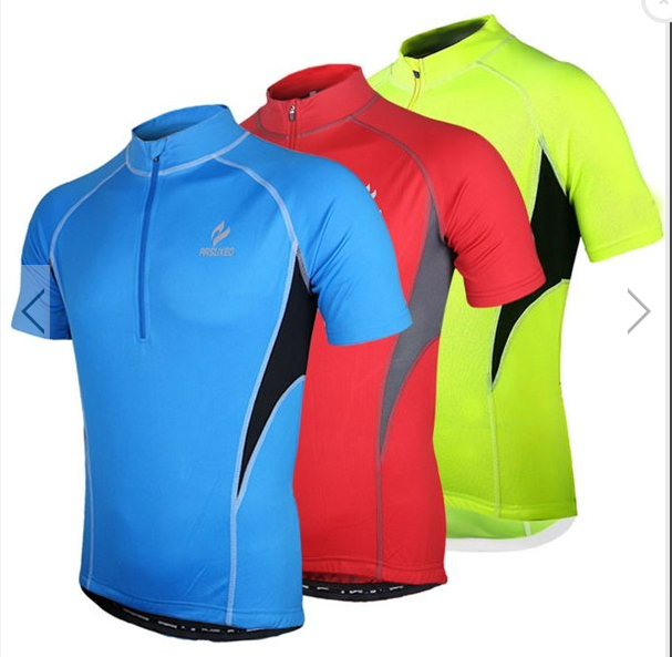0710cec49 ARSUXEO Men s Short Sleeve Cycling Jersey Bike Bicycle Jersey Outdoor  Sports Clothing