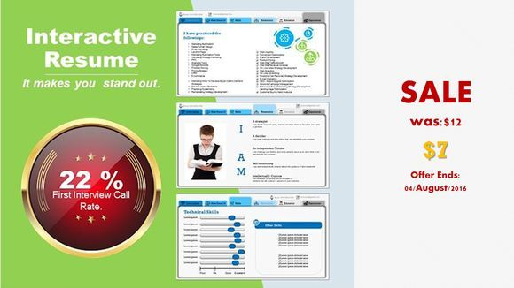 Best Stand Out Resume - SALE-PowerPoint Templates Pinterest - powerpoint resume