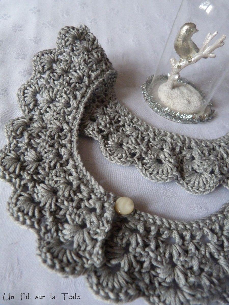 C Comme Coton Crochet Col Pour C Un Fil Sur La